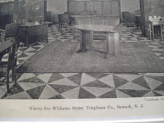 Interior of the Ninety-Five Williams Street Telephone Co., Newark, NJ, 1930, Voorhees, Gmelin & Walker