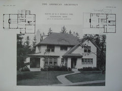House of H.P. Russell, Esq., Lexington, MA, 1915, Mr. G.H. Sidebottom