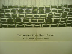 Grand Lyric Hall, Dublin, Ireland, EUR, 1898, W. H. Byrne