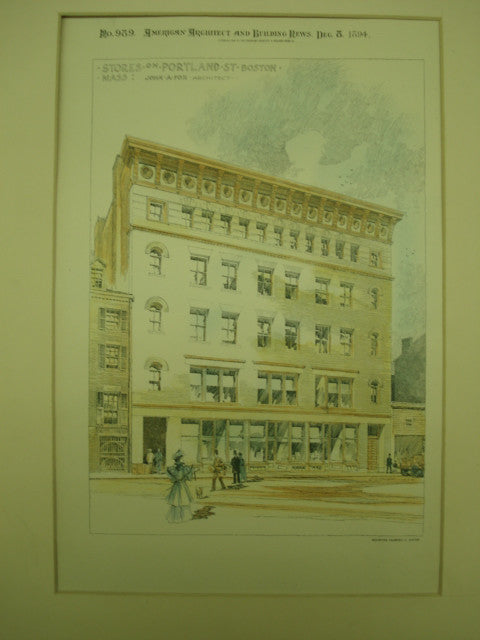 Stores on Portland Street , Boston , MA, 1894, John A. Fox