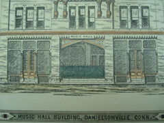 Music Hall Building, Danielsonville, CT, 1876, Wm. R. Walker and, Thos. J. Gold