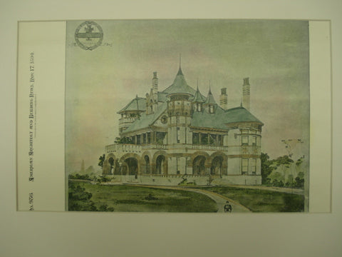 A Residence designed by James Riely Gordon, 1894, James Riely Gordon