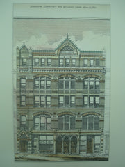 Shillaber Building, Boston, MA, 1876, Cummings and Sears