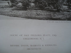 House of Dan Fellows Platt, ESQ, Englewood, NJ, 1909, Messrs. Davis, McGrath & Kiessling