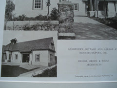 A Gardener's Cottage and Garage , Kennebunkport, ME, 1909, Messrs. Green & Wicks