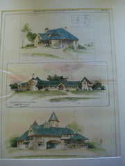 Three Stables, in Wyckoff, New Jersey, Burlingame County, California, and unknown, 1894, E.G. Dietrich & A. Page Brown