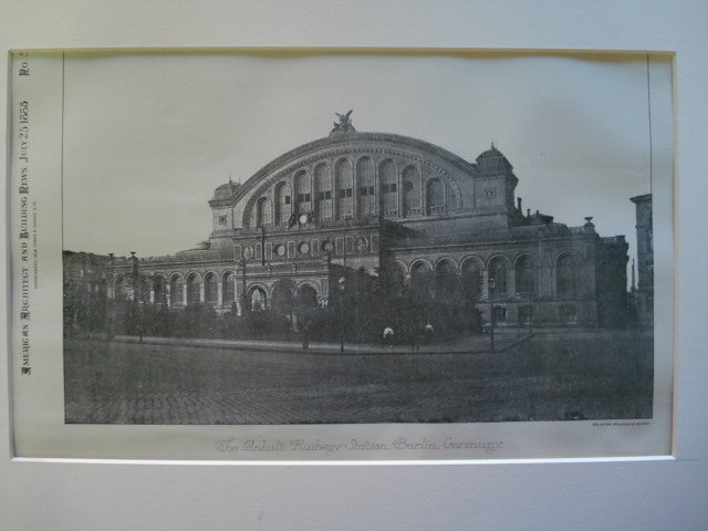 Anhalt Railway Station, Berlin, Germany, EUR, 1885, Unknown