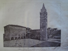 Plaza of the Cathedral, Pistoja, Italy, EUR, 1885, Unknown