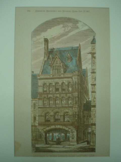 Extension to Messrs. Cheney's Block , Hartford, CT, 1877, Gambrill & Richardson