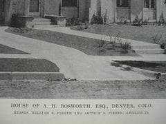 House of A.H. Bosworth, Esq., Denver, CO, 1915, Messrs. William E. Fisher and Arthur A. Fisher