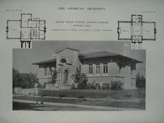 Henry White Warren Branch Library , Denver, CO, 1915, Messrs. William E. Fisher and Arthur A. Fisher