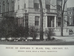 House of Edward T. Blair, Esq. , Chicago, IL, 1915, Messrs. McKim, Mead & White