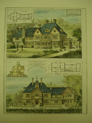 Queensmead Cottage for Colonel Reginald Talbot , Windsor, Ontario, CAN, 1883, Maurice B. Adams