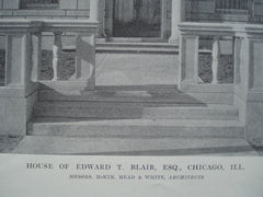 Entrance to the House of Edward T. Blair, Esq. , Chicago, IL, 1915, Messrs. McKim, Mead & White