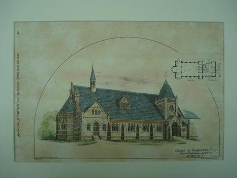 Chapel, Englewood, NJ, 1877, Potter & Robertson