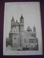 Worms Cathedral, Worms, Germany, EUR, 1885, Unknown