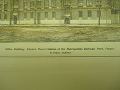Office Building of the Electric Power-Station of the Metropolitan Railroad , Paris, France, EUR, 1904, P. Friese