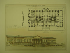 Design for the Massachusetts State Library & Office Building, Boston, MA, 1891, Henry S. McKay