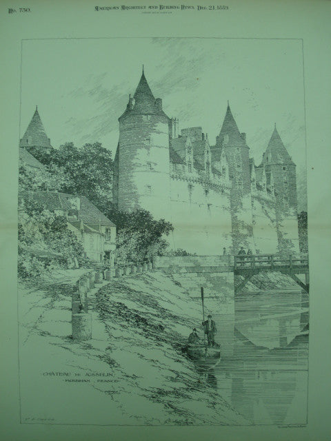 Alternate View of the Chateau de Josselin , Morbihan, Brittany, France, EUR, 1889, Unknown