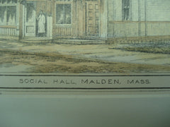 Social Hall , Malden , MA, 1879, Kirby & Lewis