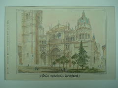 Toledo Cathedral , Toledo, Spain, EUR, 1884, Unknown