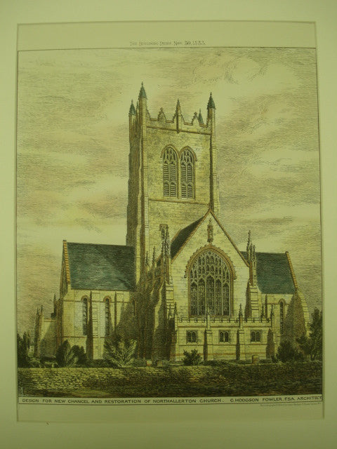 New Chancel and Restoration of the Northallerton Church , Northallerton, England, UK, 1883, C. Hodgson Fowler