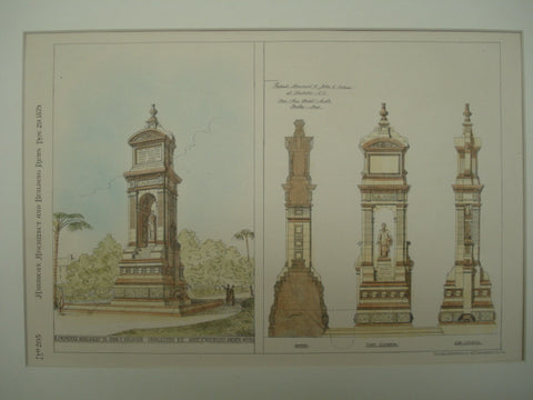 Proposed Monument to John C. Calhoun , Charleston, SC, 1879, Ware & Van Brunt