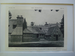 House of Dean, Facing Village Green, Avon, Old Farms, A Preparatory School for Boys, Avon, CT, 1926, Theodate Pope