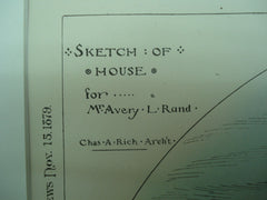 Sketch of the House for Mr. Avery L. Rand, Unknown, 1879, Chas. A. Rich