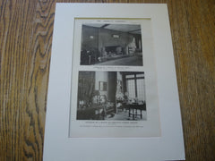 Interiors of Houses at Milton, Mass. and Chestnut Street, Boston. Derby & Robinson and Anonymous. 1916. Original Photo