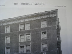 Macbeth Apartments, San Francisco, CA. 1916. Charles Peter Weeks. Original Photograph