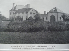 Another view of House of E.E. Bartlett,ESQ, Amagansett, L.I., NY. 1916. W.L. Bottomley