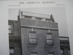 House of Allen Wardwell, ESQ., 127 E. 80th Street, New York, NY, 1915, Messrs. Delano & Aldrich