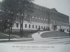 Exterior of New Mount Sinai Hospital, Cleveland OH. 1916. George B. Post. Photograph