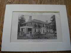 House of Wade H. Davis, ESQ., Atlanta, GA, Exterior, 1916. Edward E. Dougherty. Lithograph
