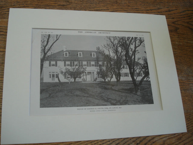 House of George K. Smith, ESQ., St. Louis, MO, 1915, Messrs. Roth & Study