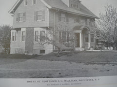 House of Professor S.C. Williams, Rochester, NY, 1915, Mr. Horace T. Hatton
