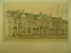 Houses for Wm. A. Butler and J. C. Bell, Yonkers, NY, 1883, James Brown Lord