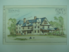 Sketch of the House for H. M. Dumpee, Esq., Chicago, IL, 1886, Andrews & Jaques