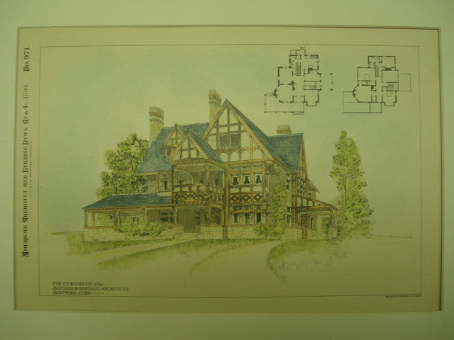 House for E. F. Burnham , Hartford, CT, 1894, Hapgood & Hapgood