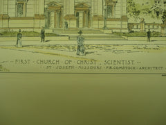First Church of Christ, Scientist , St. Joseph, MO, 1899, F. R. Comstock
