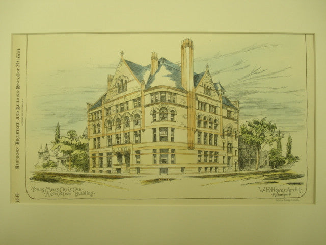 Young Men's Christian Association, Minneapolis, MN, 1888, W. H. Hayes