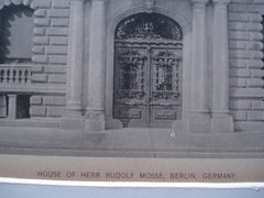 House of Herr Rudolf Mosse , Berlin, Germany, EUR, 1890, Unknown