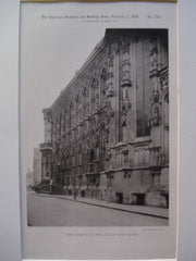 North Facade of the Hotel de Ville , Ghent, Belgium, EUR, 1891, Unknown