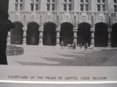 Detail of the Court-Yard of the Palais de Justice , Liege, Belgium, EUR, 1890, Unknown
