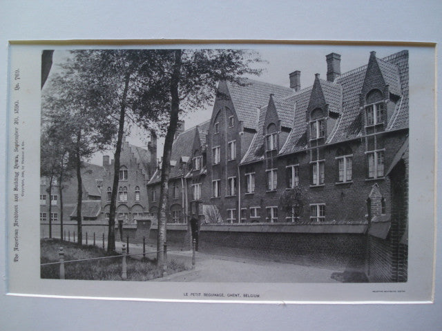 Le Petit Beguinage , Ghent, Belgium, EUR, 1890, Unknown