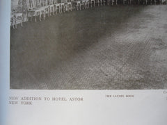 New Addition to Hotel Astor: The Laurel Room , New York, NY, 1910, Clinton & Russell