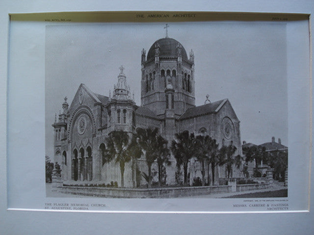 Flagler Memorial Church , St. Augustine, FL, 1909, Carrere & Hastings