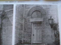 Details of the Doorways of the Flagler Memorial Church , St. Augustine, FL, 1909, Carrere & Hastings
