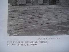 Detail of the Main Entrance of the Flagler Memorial Church , St. Augustine, FL, 1909, Carrere & Hastings